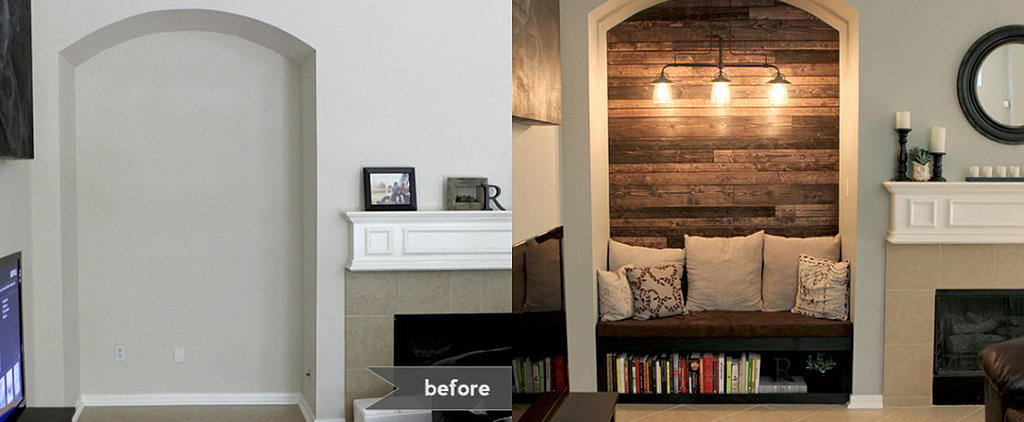 Before and After: A Perfect Solution For an Empty Alcove