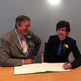 Stephen Fry Is Married!