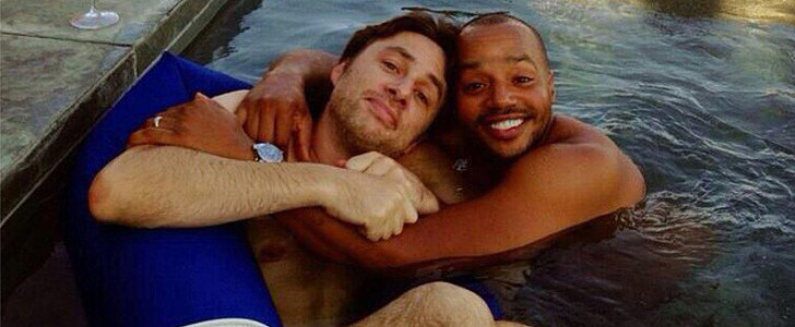 Zach Braff and Donald Faison Kick Back and Relax on MLK Day