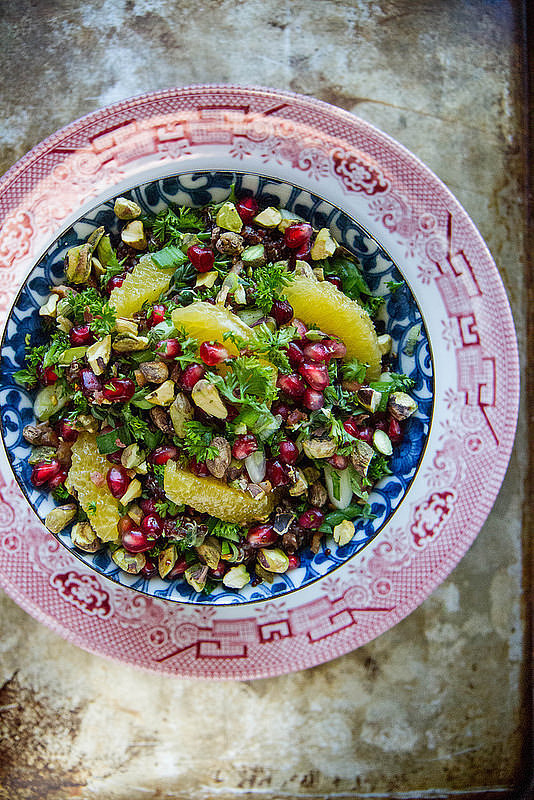 Quinoa Salad With Pomegranates, Citrus, and Pistachios