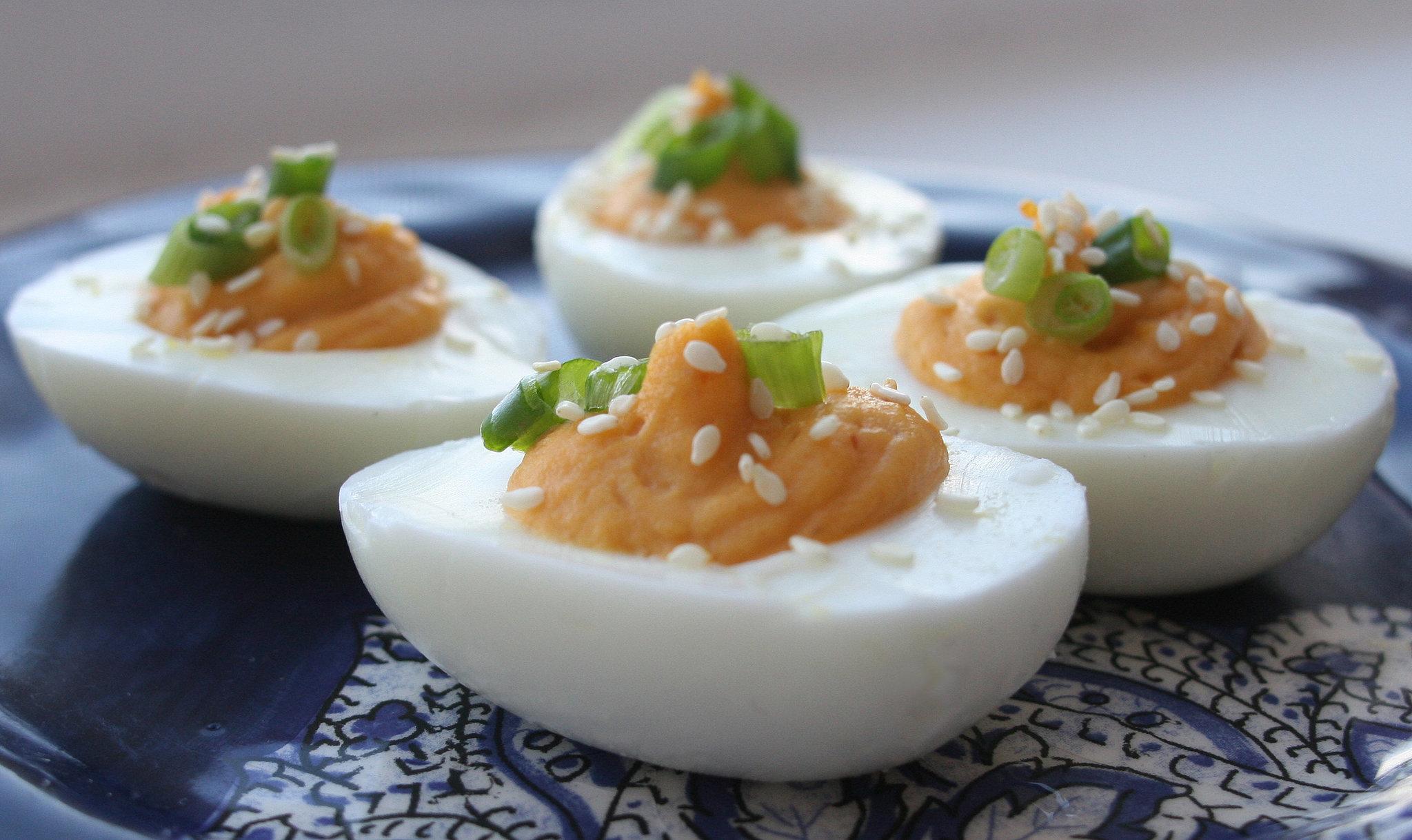 Sriracha Deviled Eggs | POPSUGAR Food