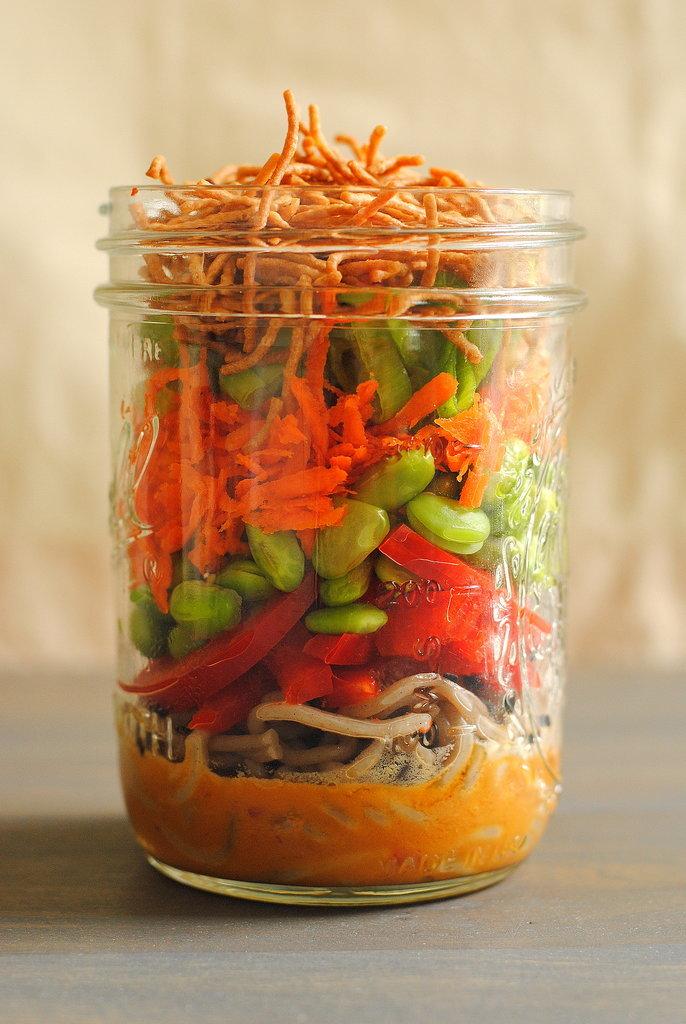 Spicy Peanut Soba Noodle Salad