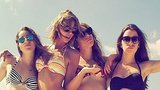 Taylor Swift Reveals Her Belly Button in Bikini Pic!