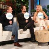 Paul Bettany, Johnny Depp and Gwyneth Paltrow on Ellen