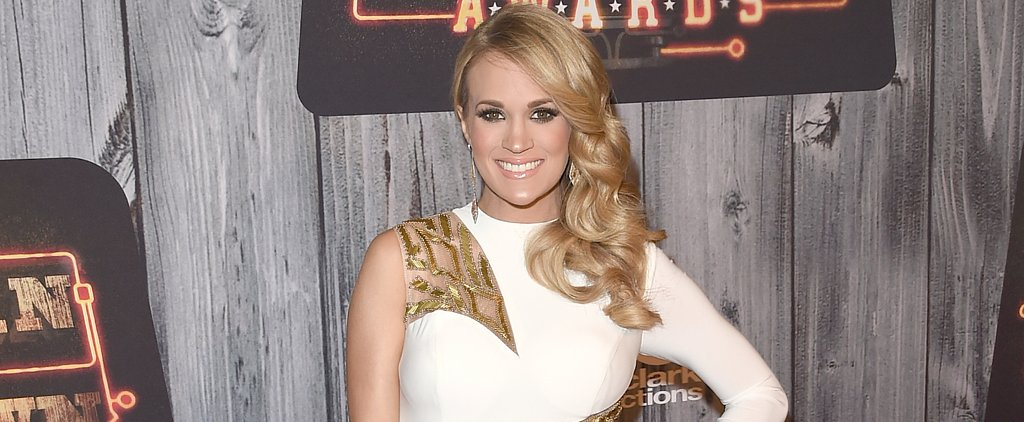 Carrie Underwood Uses Her Baby Bump as a Table and It's Seriously Adorable