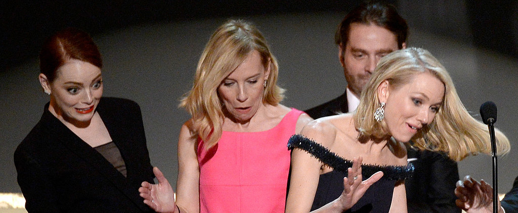 You Have to See Emma Stone's Face the Moment She Tripped Naomi Watts