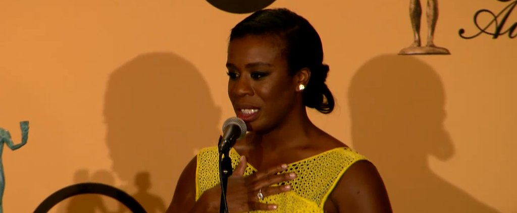 Uzo Aduba Had a Fangirl Moment With Bryan Cranston at the SAG Awards