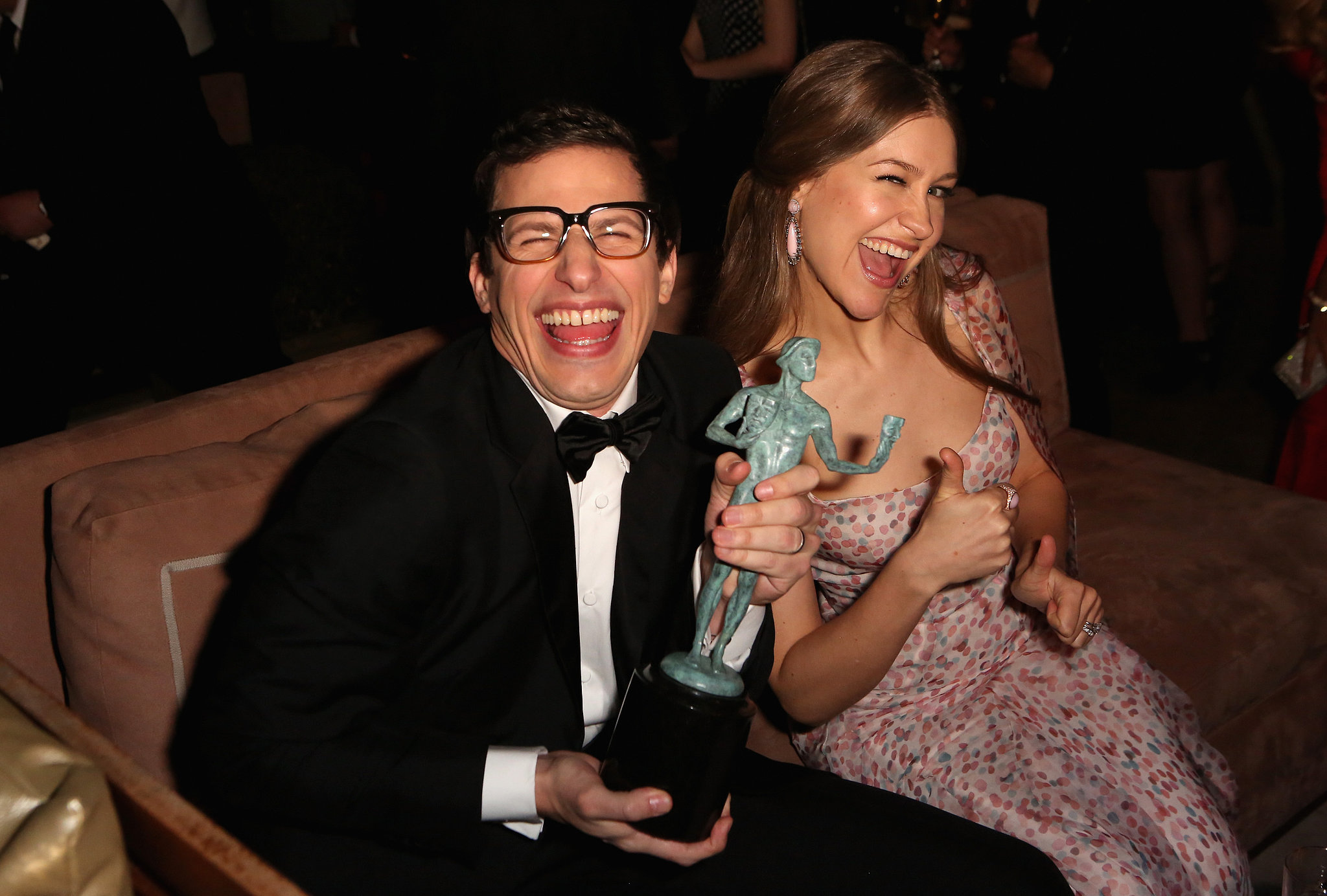 Andy Samberg and his wife, Joanna Newsom, celebrated after ...