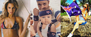 Look at All the Different Ways Aussie Celebrities Wear the Australian Flag