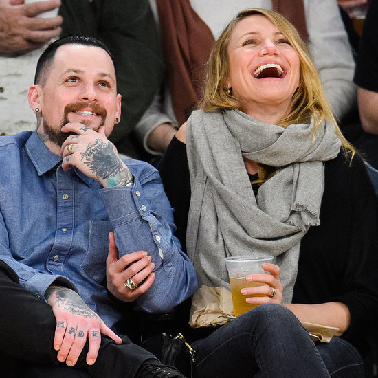 Newlyweds Benji Madden and Cameron Diaz Kissing