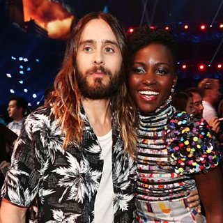 Cute Pictures of Jared Leto and Lupita Nyong'o