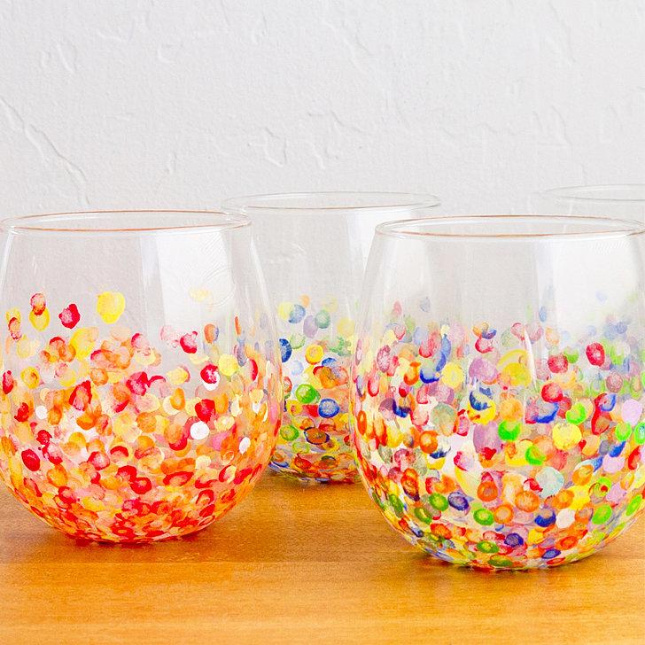 Cute diy tumblers popsugar smart living for Craft smart acrylic paint walmart