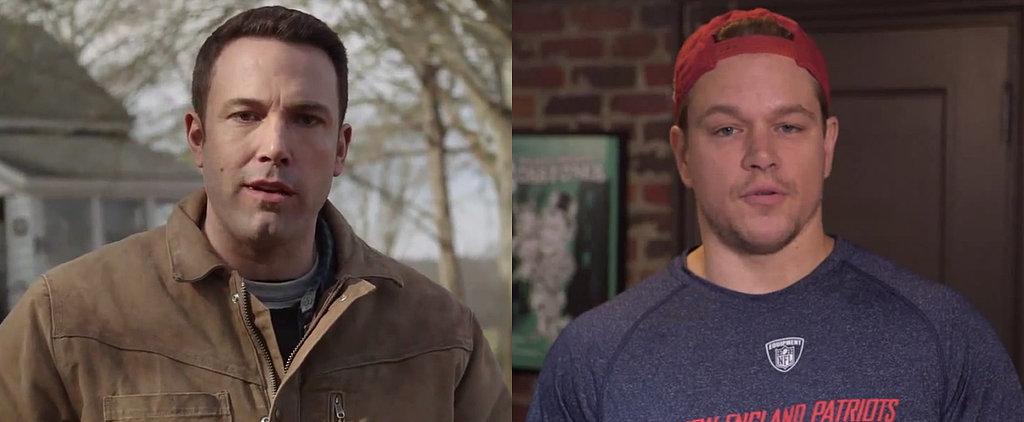 Don't Worry, Tom Brady — Ben Affleck and Matt Damon Will Take Deflategate From Here
