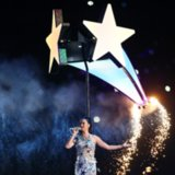 Katy Perry Flying During Super Bowl Halftime Show