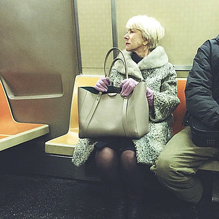 Helen Mirren Riding the NYC Subway | Instagram Picture