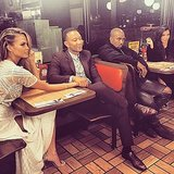 Kim Kardashian and Chrissy Teigen Double Date Waffle House