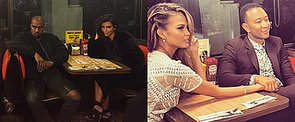 Kim Kardashian Isn't Too Fancy For a Double Date at Waffle House
