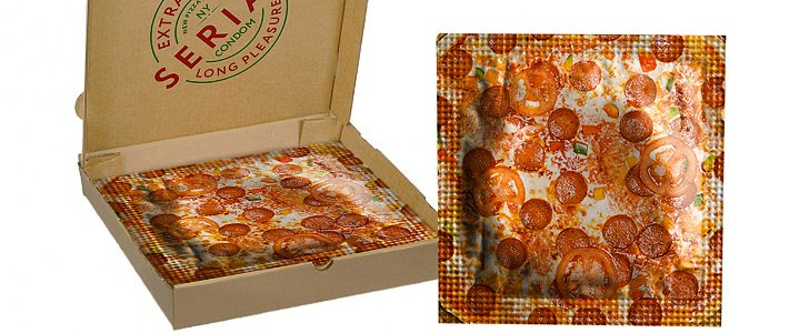 Pizza Condoms Combine 2 of the Greatest Things in the World