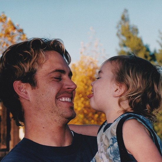 Paul Walker and His Daughter Throwback Photo