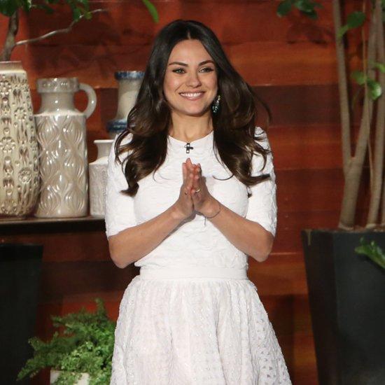 Mila Kunis Talks About Baby Wyatt on Ellen