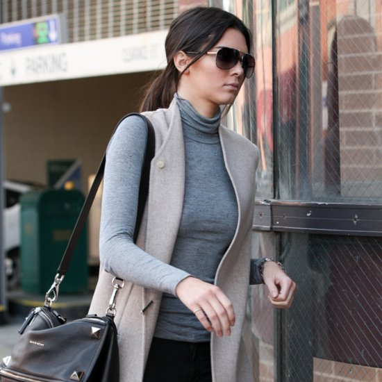 Kendall Jenner Wearing a Long Vest