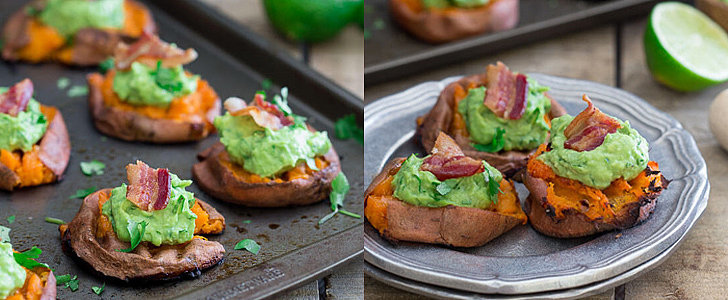 These Smashed Sweet Potato Guacamole Bites Are the Perfect Party Food