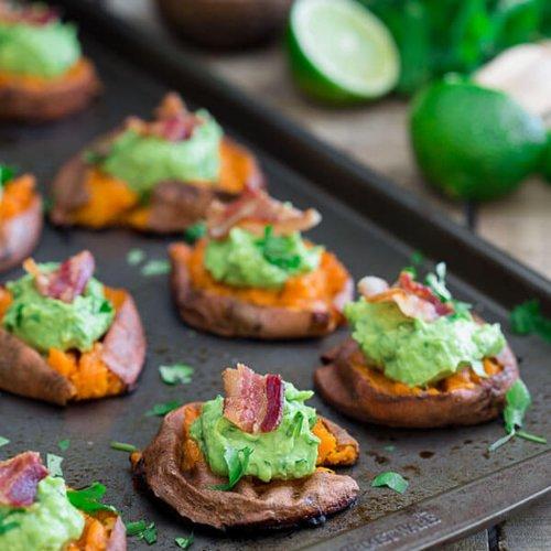 Smashed Sweet Potato Guacamole Bites Recipe | POPSUGAR Fitness