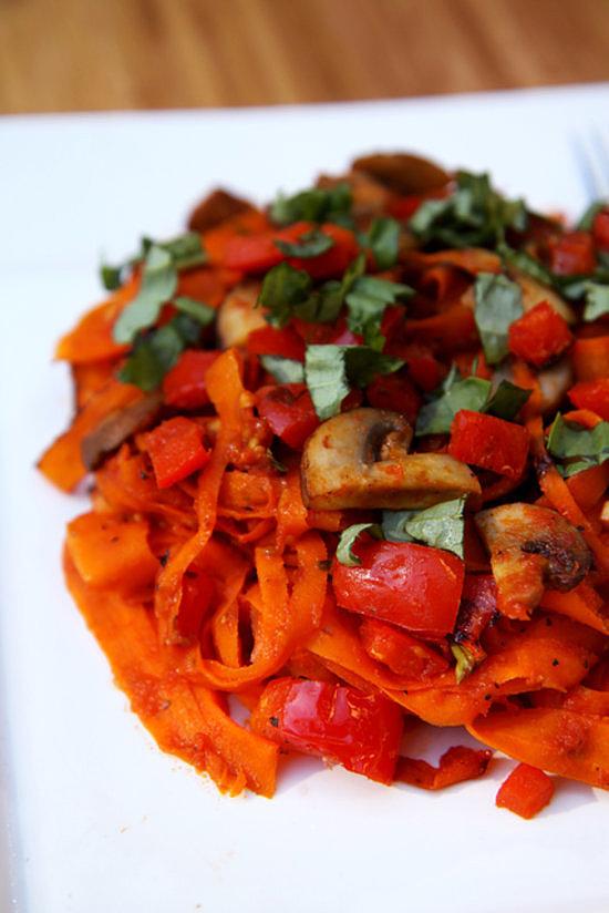 Slightly Restrained: Carrot Fettucine