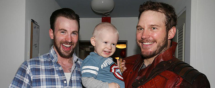Chris Pratt and Chris Evans Honor Their Super Bowl Bet With Adorable Kids