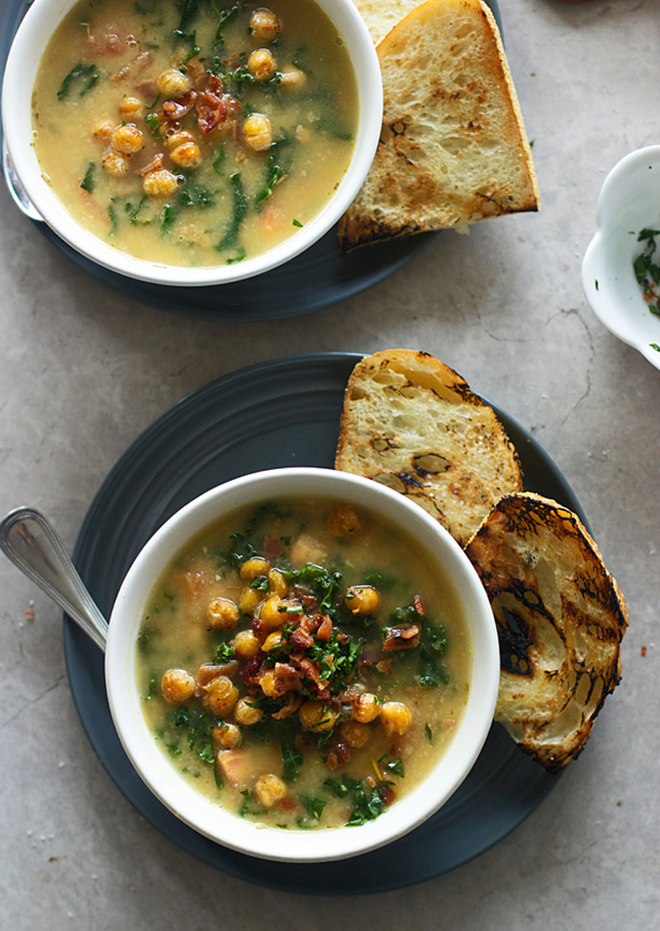 Chickpea Soup With Kale and Bacon | 16 Italian Soup Recipes to Get You ...