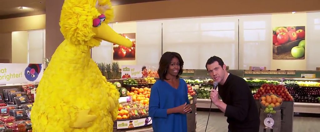 Michelle Obama and Big Bird Think Carrots Are Better Than Ariana Grande