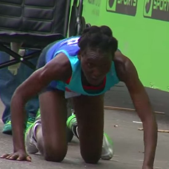 Austin Marathon Runner Crawls Over Finish Line