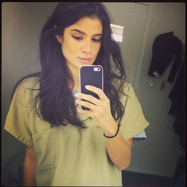 Diane Guerrero is all about the mirror selfies.
