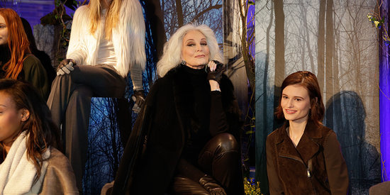Carmen Dell'Orefice Poses Next To A Zebra For Elie Tahari