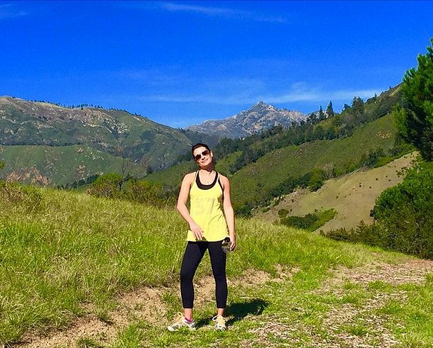 Another day, another hike (and a beautiful one at that!) for Glee actress Lea Michele.