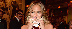 Chrissy Teigen Mixes Burgers With PDA at the Most Glamorous Oscars After-Party