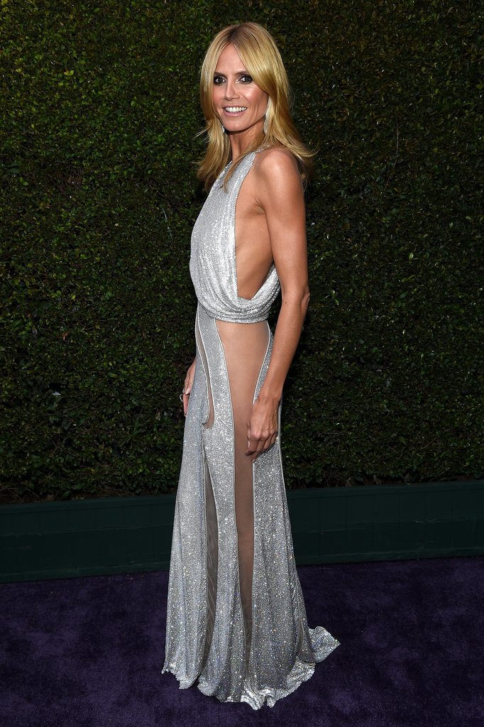 Heidi Klum at the Elton John Oscar Party