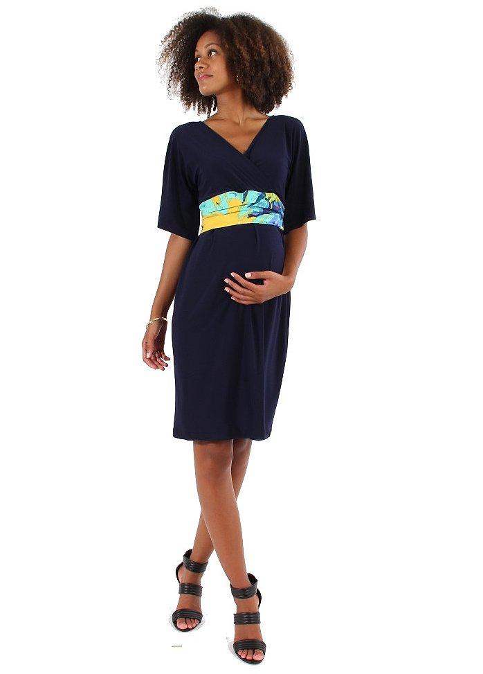 Japanese Weekend Colorblock Maternity Dress