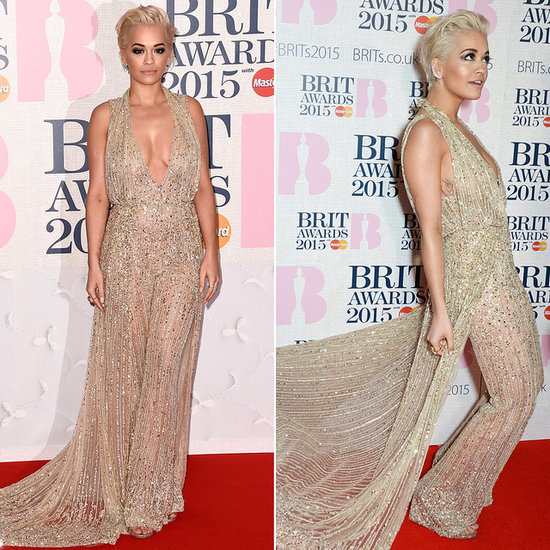 Rita Ora in a Zuhair Murad Jumpsuit at the Brit Awards