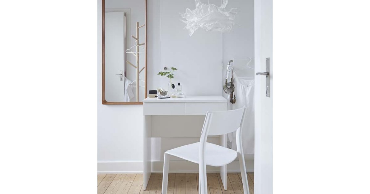 Ikea Paper Floor Lamp Light Bulbs ~ to a clever design, the Brimnes dressing table ($100) conceals  Ikea