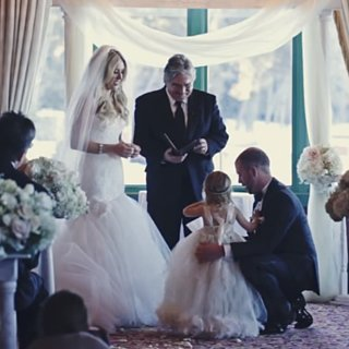 Groom Reads Vows to His Stepdaughter at His Wedding