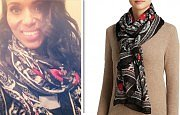 Celebrate #TGIT By Shopping Kerry Washington's Cozy Printed Scarf