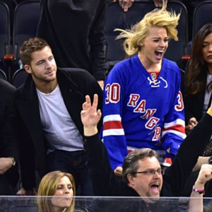 Margot Robbie With Boyfriend Tom Ackerley at Hockey Game