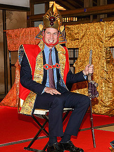 Prince William Becomes a Samurai - But Leaves the Wig in the Dressing Room