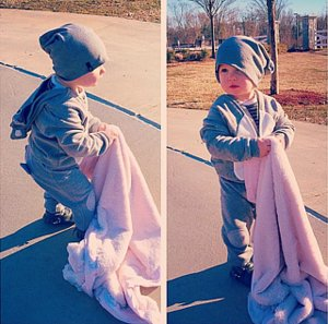 Kane Biermann, Kim Zolciak's Son, Is A Blankie Thief!