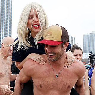 Shirtless Taylor Kinney and Lady Gaga at Pol
