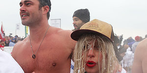 Lady Gaga Jumped Into Icy Lake Michigan For Charity
