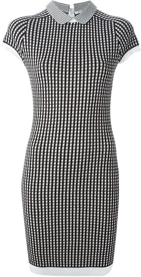 Carven Gingham Fitted Dress