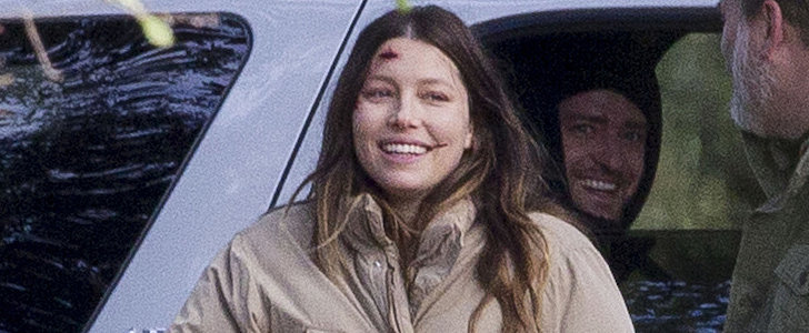 Pregnant Jessica Biel Gets a Sweet Set Visit From Justin Timberlake