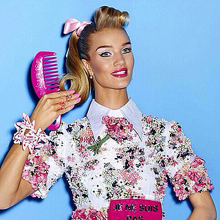 Rosie Huntington-Whiteley Poses as Barbie